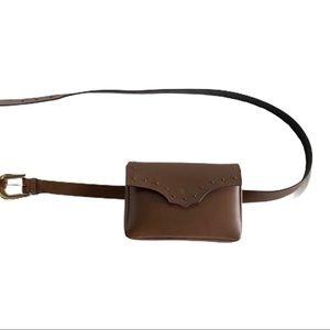 Frye Belt Bag Brown Genuine Leather Fanny Pack